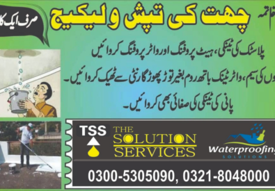 Water and Heat Proofing Solution in Lahore