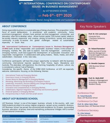 6th International Conference on Contemporary Issues in Business