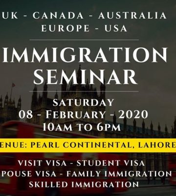 Immigration Seminar In Lahore