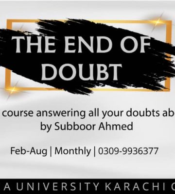 The End of Doubt