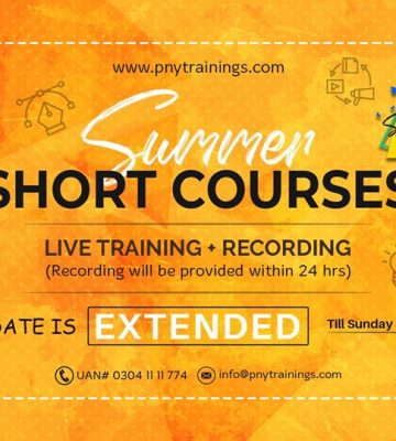 Summer Short Courses – Upto 75% Off (Live Training + Recording)