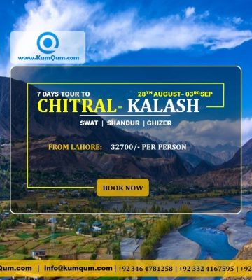 Chitral Valley Tour 28th August to 3rd September