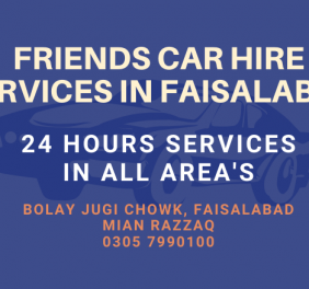 Friends Car Hire Services in Faisalabad