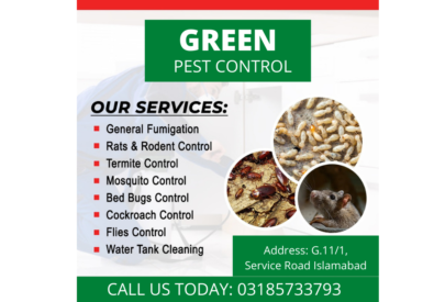 Green Pest Control and Fumigation Services in Islamabad