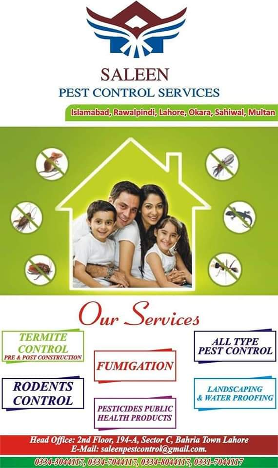 Saleen Pest Control Company in Lahore