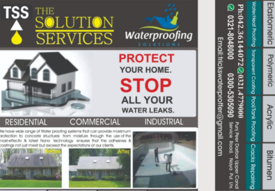 Waterproofing Services in Lahore   The Solution Services