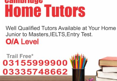 Cambridge Home Tuition Network in Lahore Islamabad Rawalpindi