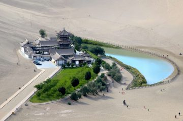 Strange Oasis and Lakes in Deserts