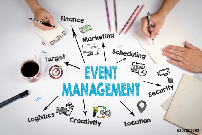 multi-tasking and creative skills of event manager