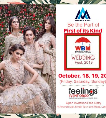 WBM Wedding Festival in Lahore 2019