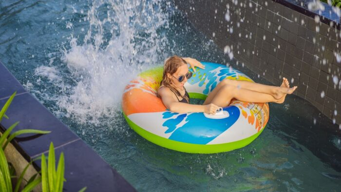 Explore the waterpark as a family